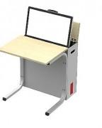 Table avec tablette intégrée - Plusieurs profondeurs, largeurs et coloris