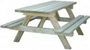 Table banc en bois - Longueur : 1m30.