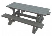 Table banc familial en plastique recyclé - Dimensions (Lx H) cm : 180 x 139