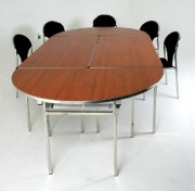 Table banquet pliante légère - Forme : rectangulaire ou ronde