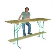 Table bar d'extérieur pliante - Dimensions (L x l) cm : 220 x 120