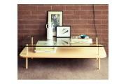 Table basse à deux plateaux - Dimensions (L x l x h) : 120 x 35 x 60 cm