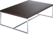 Table basse acier - Dimensions (L x P x H): 110 x 70 x 32 cm