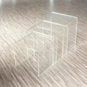 Table basse gigogne en polycarbonate - Lot de 3 tables