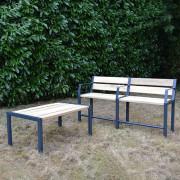 Table basse jardin - Plateau composés de 5 lattes