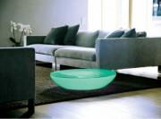 Table basse lumineuse - Largeur Diam : 84 cm - Hauteur : 18 cm