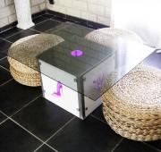 Table basse lumineuse led - Système d'éclairage LED RGB avec télécommande