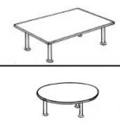 Table basse mélaminé