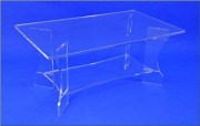 Table basse plexi rectangulaire - Dimensions (L x l x H) cm : 100 x 60 x 45