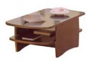 Table basse rectangulaire acajou ou laqué - TEMPO