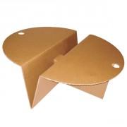 Table basse ronde en carton - Monté : 100 x 34 x 80 cm