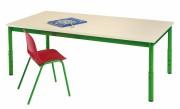Table cantine réglable pour maternelle - Dimensions : de 80x80 à 210x80 cm / Ø 120 cm - Taille réglable 1 à 3