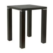 Table carré en bois plaqué couleur Wengé - TYC-258