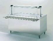 Table chauffante de self service - 4.80 kW - 4 bacs