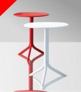 Table cocktail haute - Structure : Acier  - Matière  : Polyéthylène