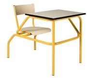 Table d'école à siège attenant - Structure monobloc