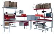 Table d'emballage modulaire - Dimensions : 1200x800, 1600x800 et 2000x800 mm