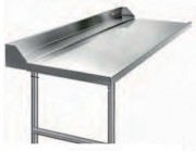 Table d'entrée sans cuve à raccorder à gauche de la machine à laver - Longueur (mm) : De 600 à 2100 - Largeur : 750 mm - Hauteur : 850 mm