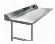 Table d'entrée sans cuve pour machine à laver - Longueur (mm) : De 600 à 2100 - Largeur : 750 mm - Hauteur : 850 mm
