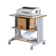 Table d'imprimante à 3 niveaux - Gris clair 85220