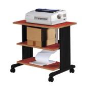 Table d'imprimantes acier à 3 niveaux - Cerise -85225