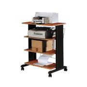 Table d'imprimantes bois à 4 niveaux - Cerise 85905