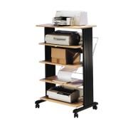 Table d'imprimantes bois à 5 niveaux - - Cerise 85915