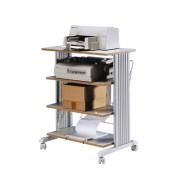 Table d'imprimantes sur roulettes 4 niveaux - Gris 85900