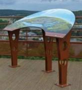 Table d'orientation couronne - Couronne 120° : 128,4x61,8 cm