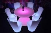 Table de bar Led multi-coloris - Tables lumineuses Led RGB pour bars et Lounge
