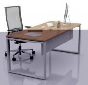 Table de bureau à pieds métalliques - Piétement métallique en tube 60 x 30 m