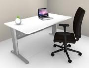Table de bureau composée - Piétement métallique - Plateau Mélaminé