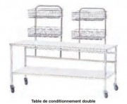 Table de conditionnement inox - Table avec 1 ou 2 plateaux