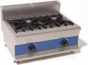 Table de cuisson à gaz professionnelle - Dimensions (L x l x h) : de 450 x 668 x 400 à 750 x 670 x 400 mm
