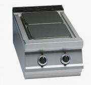 Table de cuisson électrique à plaques carrées - Plaques : 1 x 4.000 + 1 x 3.000 W - Puissance: 7 ou 13 kW