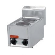 Table de cuisson électrique en inox - 2 - 4 ou 5 plaques fonte rondes - Puissance : de 4Kw à 10 Kw