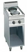 Table de cuisson électrique sur soubassement - Puissance : 5,2 kW - 2 plaques de cuisson