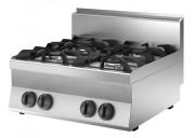 Table de cuisson gaz 4 feux - Puissance gaz : 18,0 kW - 4 feux vifs : 2 x 3,5 kW, 2 x 5,5 kW