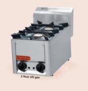 Table de cuisson gaz en inox - Puissance brûleur : 4.5 Kw - 2, 4 ou 6 Feux vifs -