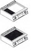 Table de cuisson gaz professionnelle - Puissance Kw : 7- 12  -14