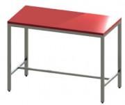 Table de découpe en inox 304 - Matière : Inox 304 - Dessus en polyéthylène blanc
