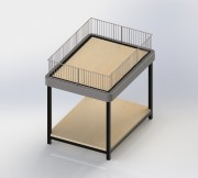 Table de fouille à 2 niveaux sur pieds - Table de  fouille