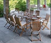 Table de Jardin en acacia - Longueurs de 120, 150, 200 ou 280 cm