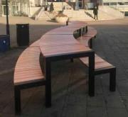 Table de jardin top class - En acier galvanisé +verni et bois de pin ou bois dur