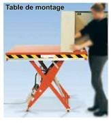 Table de montage élévatrice sur mesure - Capacité : de 500 à 10000 Kg - Dim. plateau : 800x1250 à 2000x3000 mm