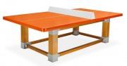 Table de ping pong piétement bois - Dimensions (mm) : L 2740 x l 1525 x H 760