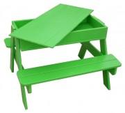Table de pique nique avec bac à sable - Dimensions hors tout (L x l x H) cm : 84 x 77 x 56