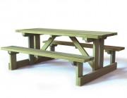 Table de pique-nique bois - Pieds et traverses section 45 x 145 mm