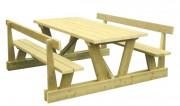 Table de pique nique bois autoclave - Dimensions (mm) : 2000 x 740