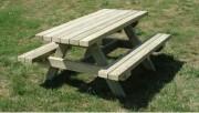 Table de pique nique en bois pour enfants - Longueur : 1200 mm - Adaptable aux PMR
